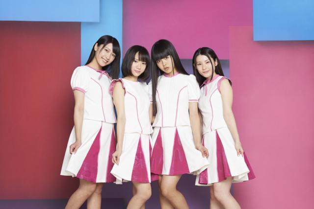 京都発アイドル「ミライスカート」さん。 左から愛称でまりちゃん、なっちゃん!、じゅなな、れいにゃん