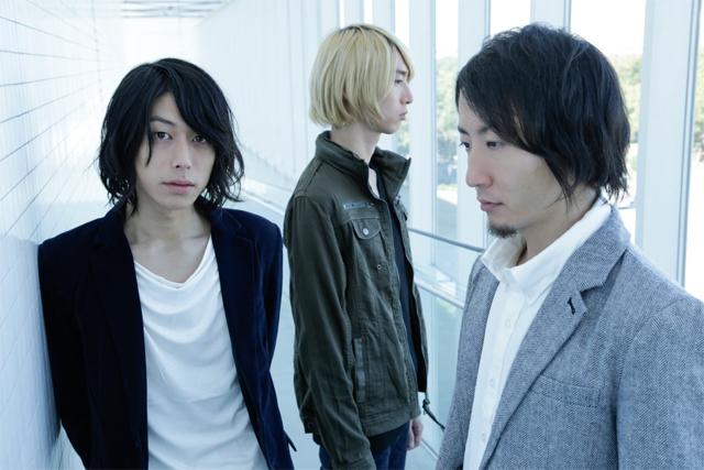 The Cheserasera 左から宍戸翼(Vo / G)、美代一貴(Dr)、西田裕作(Ba)