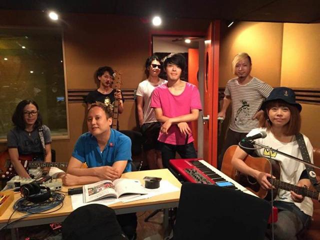 GREAT3より片寄明人さん、白根賢一さんを迎えてのレコーディング。 スタジオがクリエイティブです。